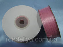 Стрічка атлас 0,3 см 90 м рожева