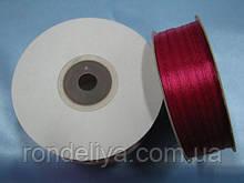 Стрічка атлас 0,3 см 90 м червоно-малинова