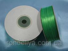 Стрічка атлас 0,3 см 90 м салатово-зелений