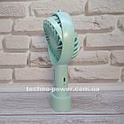 Мини-вентилятор портативный Handhald Fan F20 Blue. Ручной вентилятор с аккумулятором F20 Голубой, фото 5