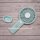 Мини-вентилятор портативный Handhald Fan F20 Blue. Ручной вентилятор с аккумулятором F20 Голубой, фото 6
