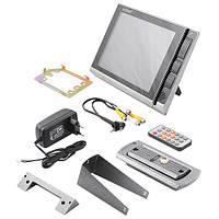 Видеодомофон LUXURY 806 R2, серый, цветной, память, SD