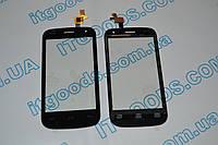 Оригинальный тачскрин / сенсор (сенсорное стекло) для Fly IQ445 Genius (черный цвет, самоклейка)