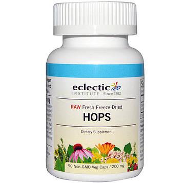 Eclectic Institute, Шишки хмеля, 200 мг, 90 вегетарианских капсул без ГМО