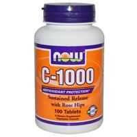 Витамин С (Vitamin C) с шиповником Now Foods 1000 мг 100 таблеток