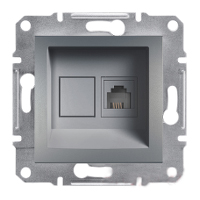 Schneider Electric Asfora PLUS розетка телефонная