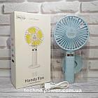 Портативный мини-вентилятор Handy Fan S8 Blue. Ручной вентилятор с аккумулятором S8 Фиолетовый, фото 2