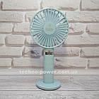 Портативный мини-вентилятор Handy Fan S8 Blue. Ручной вентилятор с аккумулятором S8 Фиолетовый, фото 4