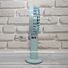 Портативный мини-вентилятор Handy Fan S8 Blue. Ручной вентилятор с аккумулятором S8 Фиолетовый, фото 5
