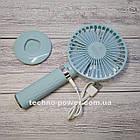 Портативный мини-вентилятор Handy Fan S8 Blue. Ручной вентилятор с аккумулятором S8 Фиолетовый, фото 7