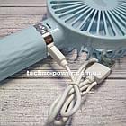 Портативный мини-вентилятор Handy Fan S8 Blue. Ручной вентилятор с аккумулятором S8 Фиолетовый, фото 8