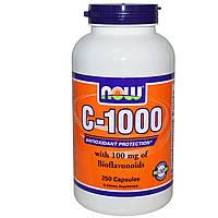 Витамин С (Vitamin C)  аскорбиновая кислота с фруктовым вкусом Now Foods 1000 мг 250 капсул