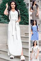 Длинное льняное платье Темми