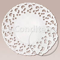 Салфетки ажурные, круглые, белые, d=12 см (250 шт.)