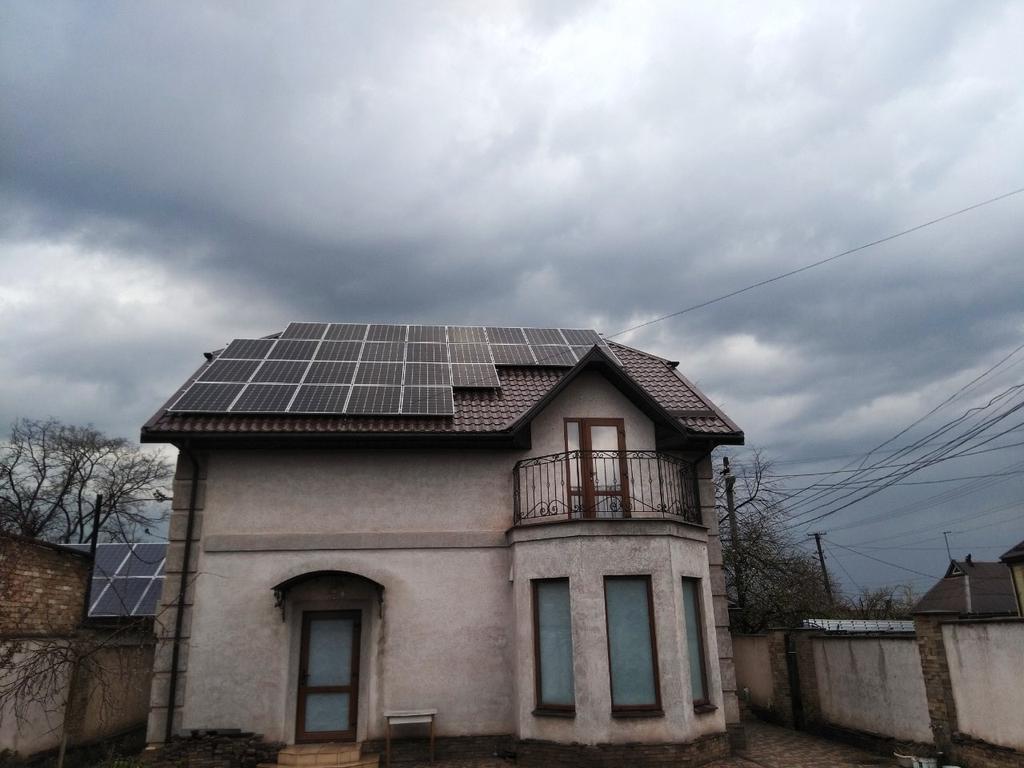 """Кривой Рог солнечная электростанция под """"зеленый"""" тариф мощностью 8,7 кВт Risen + SolarEdge Днепропетровская область"""