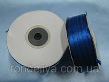 Стрічка атлас 0,3 см 90 м синя
