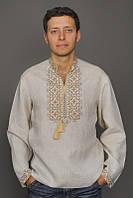 Мужская вышиванка из льна М01-246, фото 1