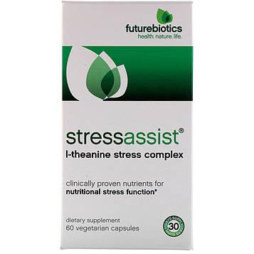 FutureBiotics, Stressassist, 60 растительных капсул