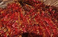 Мишура красная (золотой кончик) , длина 1.5м, диаметр 70мм Харьков., фото 1