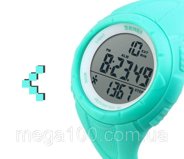 Часы наручные SKMEI 1108 цвет салатовый водонепроницаемые с шагомером