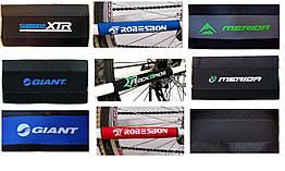 Неопреновая защита пера велосипеда от цепи (9 брендов / 3 цвета)