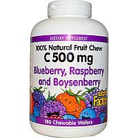 Витамин С (Vitamin C) с фруктовым ароматом Natural Factors 500 мг 180 жевательных таблеток