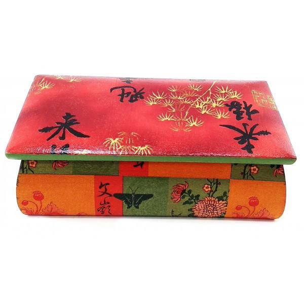 Шкатулка интерьерная из дерева Китайский мотив