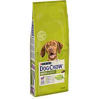 Purina Dog Chow Adult Lamb 14 кг с ягненком корм для собак от 1 до 5 лет