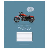 """Тетрадь школьная, 12 листов, клетка Star """"Мотоциклы"""" 2054/951579"""