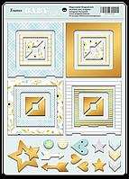 Рамки из чипборда с фольгированием (золото) Smile Baby, 30 шт