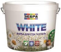 Краска акриловая для стен и потолков WHITE 5Л. Зебра
