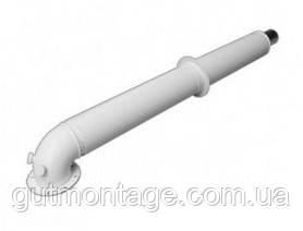 Коаксиальный дымоход. Труба - удлинитель  60/100 Fe/Al 1000мм.Buderus Германия