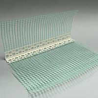 Уголки под штукатурку ПВХ с сеткой 3м (перфоуголок)