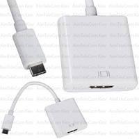 Переходник HDTV (штекер USB type C - гнездо HDMI), с кабелем 15см
