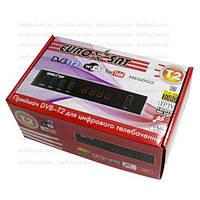 Цифровой ТВ-ресивер DVB-T2, EuroSat, пластиковый корпус