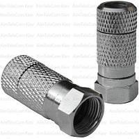 Штекер F для кабеля RG-6, накрутка, водонепроницаемый, медь
