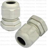 Пластиковый кабельный ввод, 6-12мм, PG-13.5, 10шт / 1уп