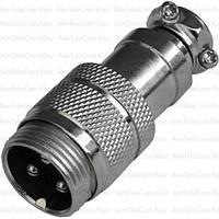 Разъём MIC 343, штекер, под кабель, 3pin, Ø16мм