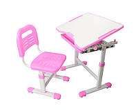 Парта и стульчик  FunDesk для школы Sole Pink