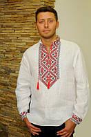 Вышитая мужская сорочка белого цвета в современном стиле М18/2-212, фото 1