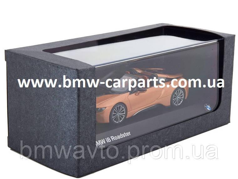 Модель автомобиля BMW i8 Roadster, E Copper Metallic 2019, фото 2