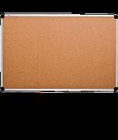 Доска пробковая, в алюминиевой рамке S-line – 1000x650 мм; код – 136510, фото 1