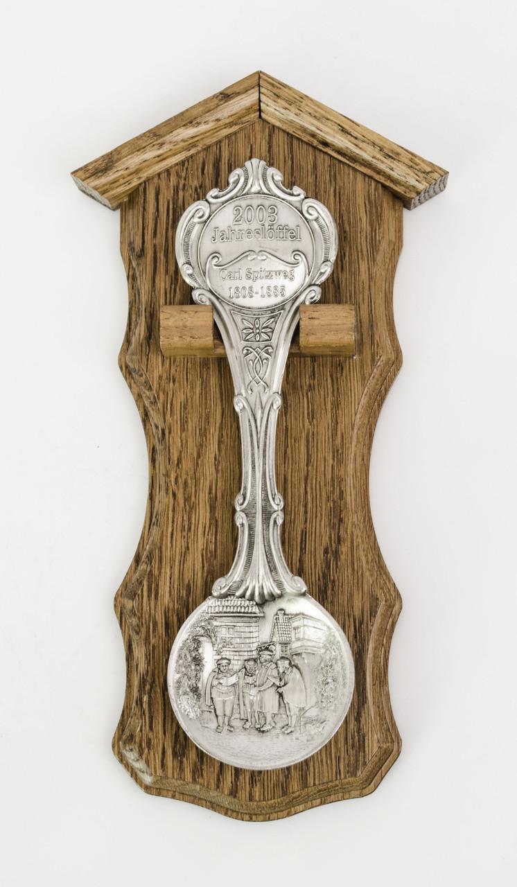 Коллекционная оловянная ложка, олово, Karl Spitzweg, Германия 2003 год