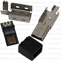 Штекер mini USB 5pin, под шнур, разборной