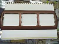 Legrand Galea 777503 рамка 3-я горизонтальная медь.