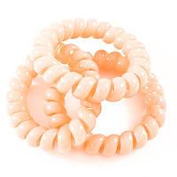 Резинка-пружинка большая персиковая