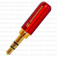 Штекер 3.5мм стерео Sennheiser, металлический корпус, красный