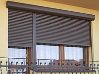Ролеты защитные производства Алютех 860мм*1350мм,ламель 39ммс пружинно-инерционным механизмом