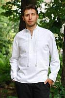Мужская вышиванка «белым по белому» М01-211, фото 1