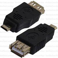Переходник, гнездо USB A - штекер micro USB